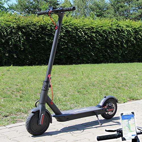Smartway Elektro Scooter 500 Watt E-Scooter mit APP & Bluetooth Elektroroller Faltbar Roller Aluminium EScooter (schwarz)