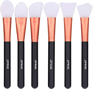 JPNK 6 Pcs Soft Silicone Facial Mud Mask Applicator Brush for Sleeping Mask, Mud Mask, Hairless Body Lotion and Body Butter Beauty Tools