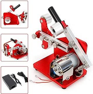 DONNGYZ Mini Belt Machine, 110V 2cm Variable Speed Electronic Sander DIY Bench Polishing sander Grinder Belt Pipe Polisher Mini Belt Apex Edge Sharpener(US Stock)