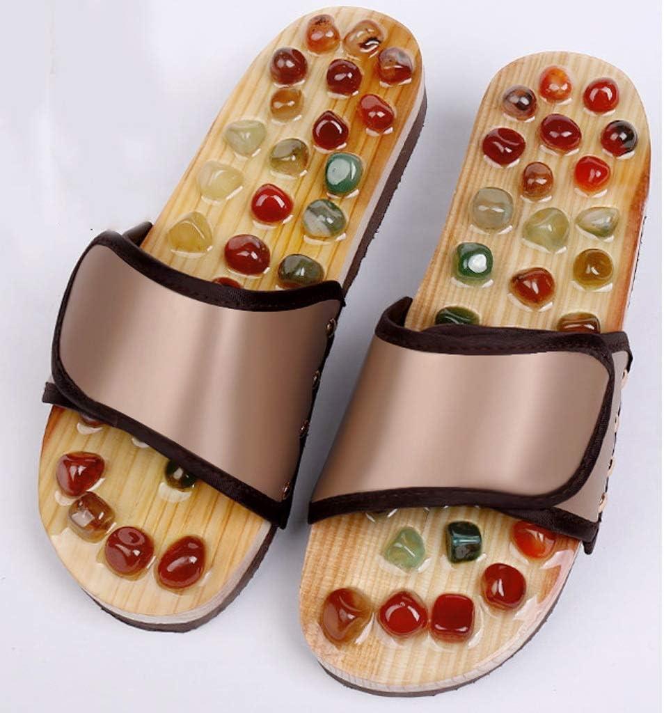 Open Washington Mall Toe Slide Fashion Slippers Acupressure Foot Acu Stone Massager Jade