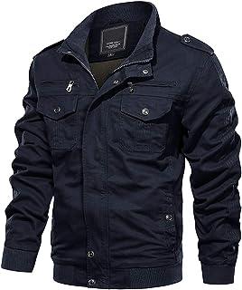 MAGCOMSEN Mens lichtgewicht winter herfst katoen casual jas militaire cargo jas en jas met rits zakken