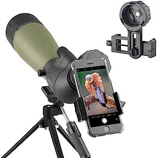 HD Monocular Telescope, High Power BAK4 HD Waterproof Monocular with Smartphone Holder Tripod for Cell Phone. HD Monocular...