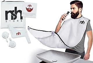 NSH Universal Size Beard Shaving Bib, Beard Trimming Apron, Ideal For Facial Hair Grooming Including Beard Apron, Suction ...