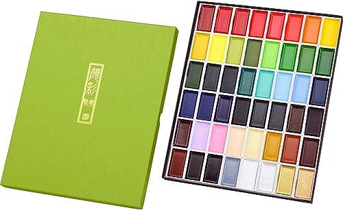 Kuretake Kuretake Gansai Tambi 48 Colours Watercolor Paint