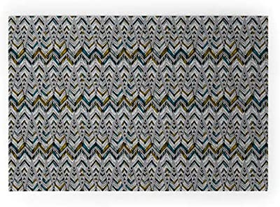 """Society6 17465-wcmatl Pattern State Pyramid Line North Welcome Mat, 36"""" x 24"""", Green"""
