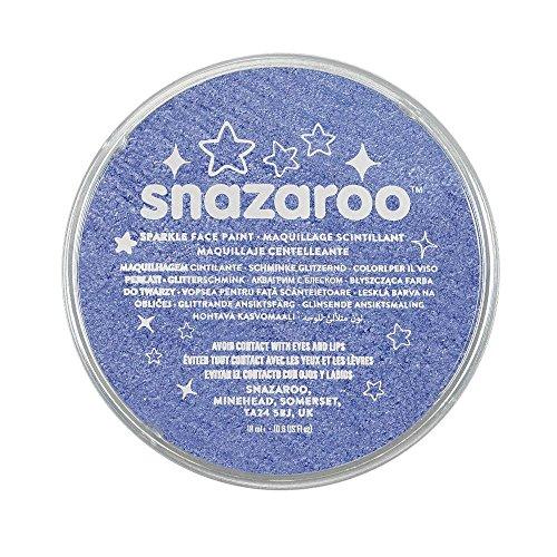 Snazaroo 1118351 Schminkfarbe 18ml Schimmernd, Blau schillernd, 18,8g
