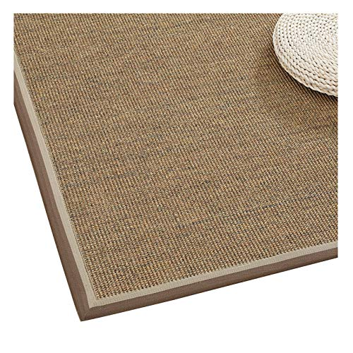 WHAOYEROK Sisal Area Rug, Collapsible Flat Weave Rug Non-slip Japanese Mat Rugs, Plastic Particle Kitchen Entry Living Room Carpets, 10 Mm, 9 Sizes (Color : B, Size : 60x120cm)
