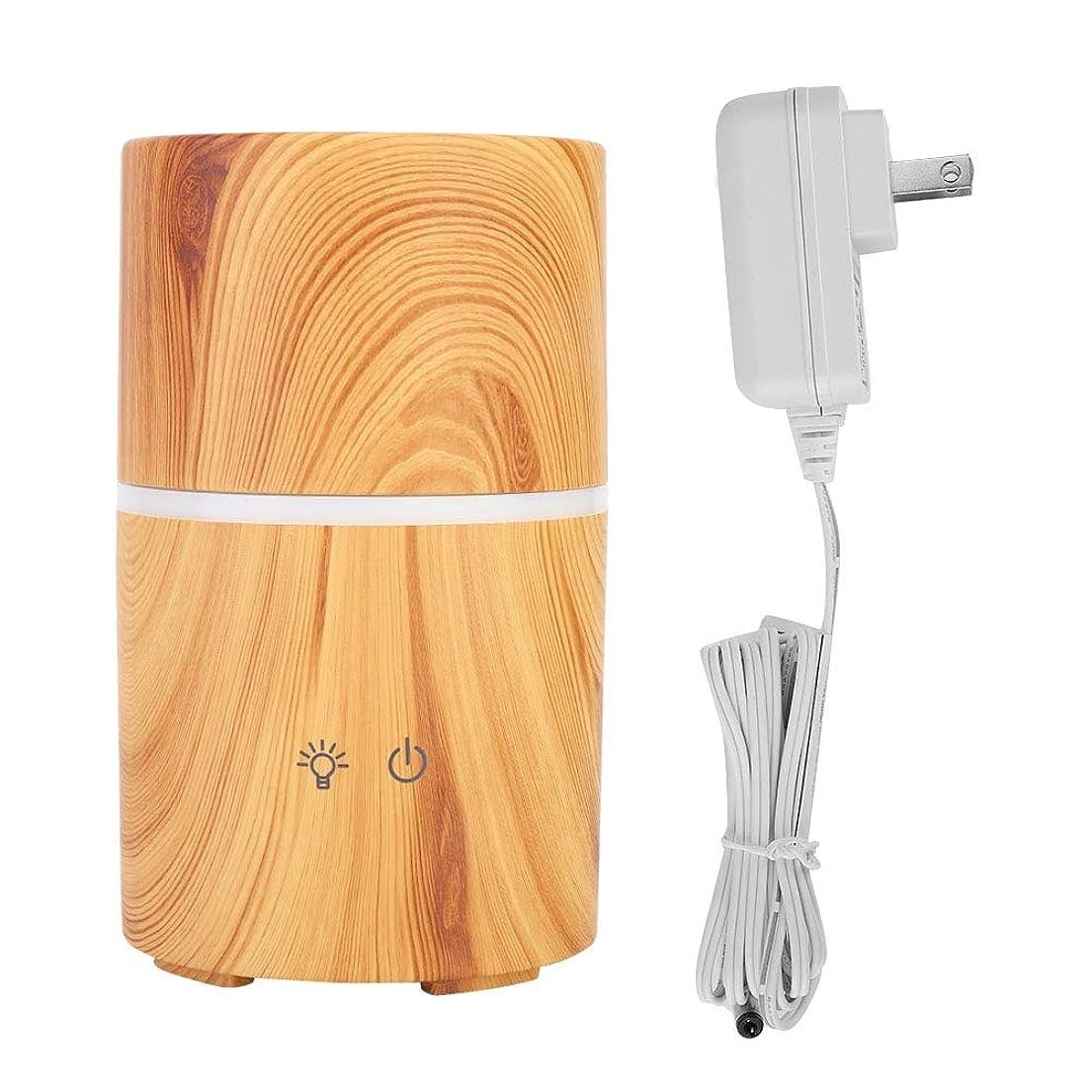 やがてゲーム強盗アロマセラピーディフューザー、多目的木目LEDインテリジェントディフューザーワイヤレススピーカー加湿器家庭用装飾(USプラグ100-240V)