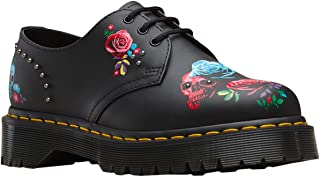 Dr. Martens Women's 1461 Bex Rose Fantasy Hydo Leather Lace Up Shoe Black