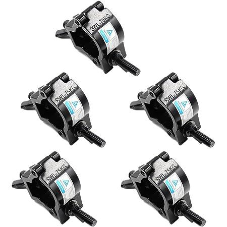 Xsayjia Truss clamp 32-35mm Montare Morsetti Luce della fase Lega di alluminio Hook Heavy Duty 75KG Parsupporti per altoparlanti Moving Head Light illuminazione accessori(5 pcs)