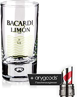 de GarageBar 1 cristal Vaso de cristal de base pesada Bacardi Rum Mojito