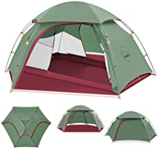 KAZOO Outdoor Camping Tent Durable Lightweight Waterproof Backpack Tents 2 Person Hiking Tent Backpacking Easy Setup, 3 Aluminum Poles Double Layer