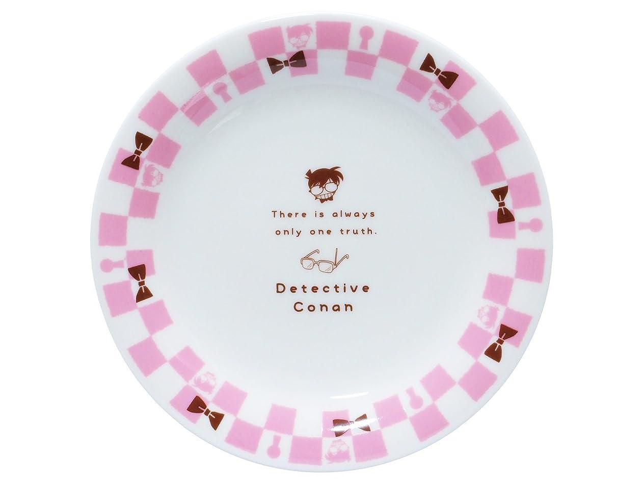 礼拝忌み嫌うフィルタ「 名探偵コナン 」 ブロック チェック柄 プレート 直径16.5cm ピンク×白 024136