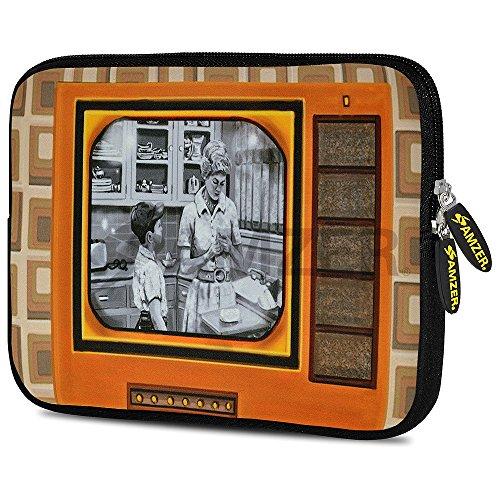 Amzer Alien - Funda de Neopreno para Tablet, diseño de Calavera Good Old Days TV 7.75 Inch