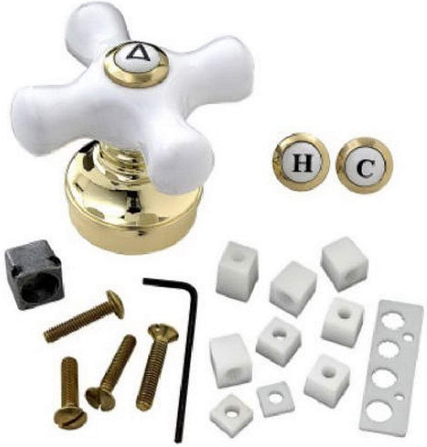 BrassCraft SH5740 Handle PB CROSS HNDL WHITE DESIGN Elegant TIP FAUCET Minneapolis Mall