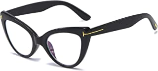 Womens Oversized Cateye Reading Glasses Blue Light Computer Glasses Stylish Reader (black +2.5)