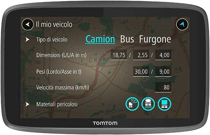 Navigatore satellitare per camion autobus furgone tomtom go professional 6200 4PL60