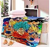 ZKPGUA Tapices Anime Dragon Ball Z Goku Naruto Manta Tapicería Tapicería De Pared Suave Estera De Playa Manta Mesa Mesa Toalla De Playa (C) 150X230Cm