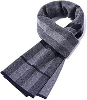 Men's Winter Business Plaid Scarfs 100% Wool Cashmere Shawl Wraps Scarves,Soft Cozy Warm Anti-Static, No Pilling, Match An...