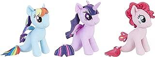 My Little Pony The Movie Sea-Pony Cuddly Plush (Mermaid Ponies 3-Pack) Rainbow Dash, Pinkie Pie, & Twilight Sparkle