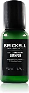 Brickell Men's Products Daily Strengthening Shampoo for Men, Natural and Organic Featuring Mint and Tea Tree Oil To Soothe...