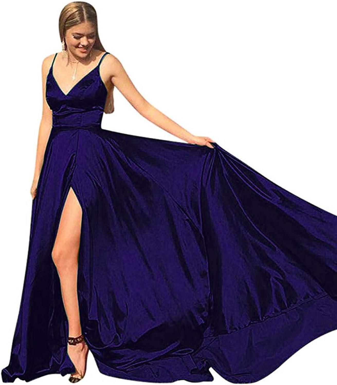 KaBuNi VNeck Prom Dress Spaghetti Strap Side Slit Formal Party Dresses