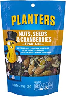 Planters Nuts, Seeds & Cranberries Trail Mix (6 oz Pouches, Pack of 12)