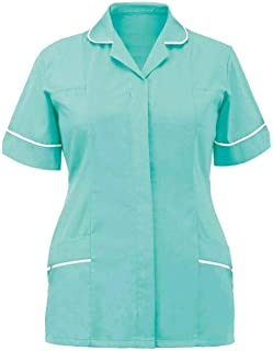 Hi Fashionz Ladies Nurse Healthcare Carer Hospitality Dental Uniform Womens Tunic Dress UK Size 8-26