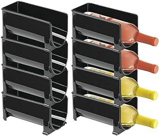 mDesign Range Bouteille Moderne (Lot de 8) – casier à Bouteilles superposable pour Bouteilles d'eau et gourdes – Support p...