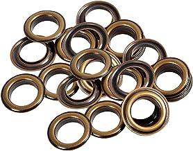 Trimming Shop IJzeren oogjes met ringen Duurzame Grommets voor reparatie kleding, handtas, lederen werk, Scrapbooking, kun...