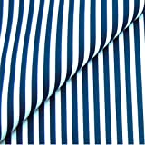 0,5m Streifen-Stoff 5mm dunkelblau/weiß Meterware 100%