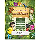 2021-2022 Elementary Student Planner - 8.5'X11' - Learning is an Adventure Cover - Durable Poly Plastic Cover