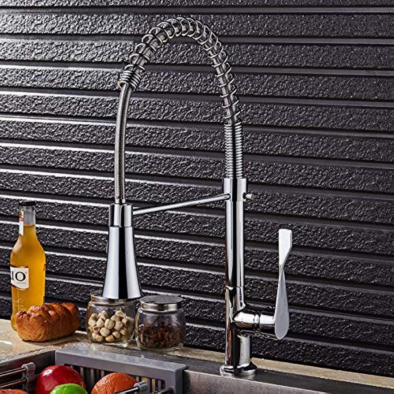 ZHAOSHOP Wasserhahn überzug Frühling drehbar heies und kaltes Wasser Wasserhahn Spülbecken Wasserhahn 9115