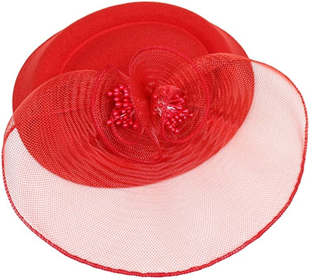 Women Fashion Wedding Fascinator Penny Ribbons And Feathers Party Mesh HatWinter Hats,Sun Protection Hats