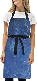 YIXKC Apron Planets Spac Adjustable Neck with 2 Pockets Bib Apron for Family/Kitchen/Chef/Unisex