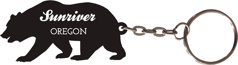 Sunriver Oregon Souvenir Metal Bear Keychain