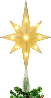 Schone Products Cimier de Sapin de No/ël Scintillant Motif /étoile /à 5 Branches