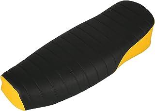 AKF Sitzbank strukturiert, schwarz/gelb ohne Schriftzug   für Simson S50, S51, S70 Enduro