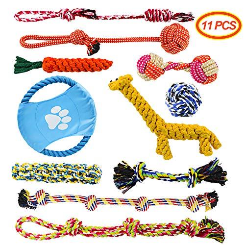 Docatgo Juguete para Perros, 11 Piezas Masticar Cuerda