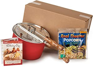 Whirley-Pop Popper Kit - Metal Gears - Red - 1 Real Theater All Inclusive Popping Kit