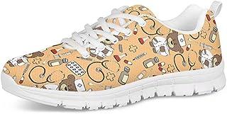 Polero Chaussures sanitaires pour femme Chaussures plates en maille filet Taille 36-45 Parfaites pour le sport, jaune (Ora...