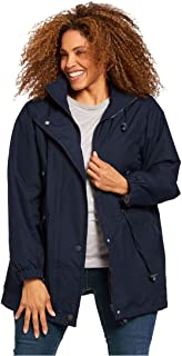 Woman Within Plus Size Fleece-Lined Taslon Anorak
