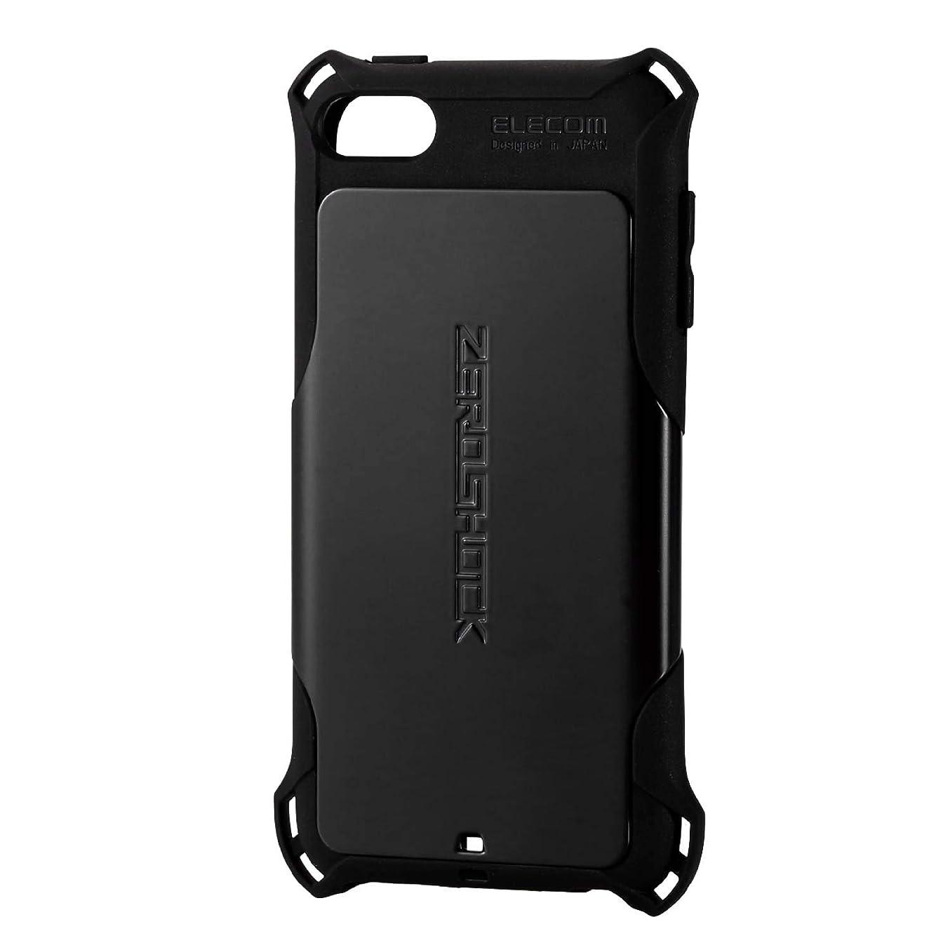 メドレーせがむシードエレコム iPod Touch 【第6世代 / 第7世代】 ケース 衝撃吸収 ZEROSHOCK スタンダード ブラック AVA-T17ZEROBK