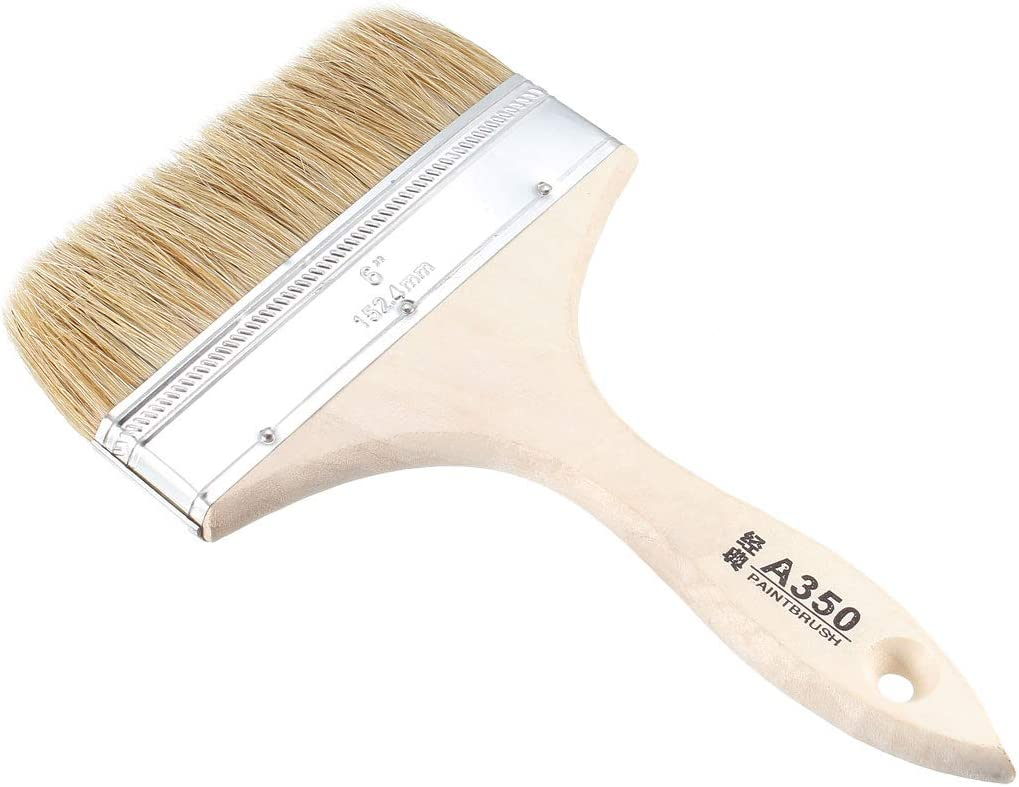 Time sale uxcell 6 Inch Chip Sale special price Paint Brush with Synthetic Wood Bristle Handl