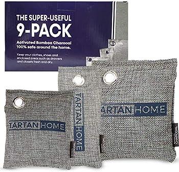 9-Pack Tartan Home Charcoal Air Purifier Bags