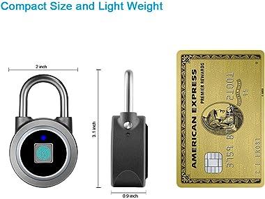 Fingerprint Padlock, Bluetooth Lock, Mobile APP, MEGAFEIS Smart Padlock with Keyless Biometric, Water Resistant, Suitable for