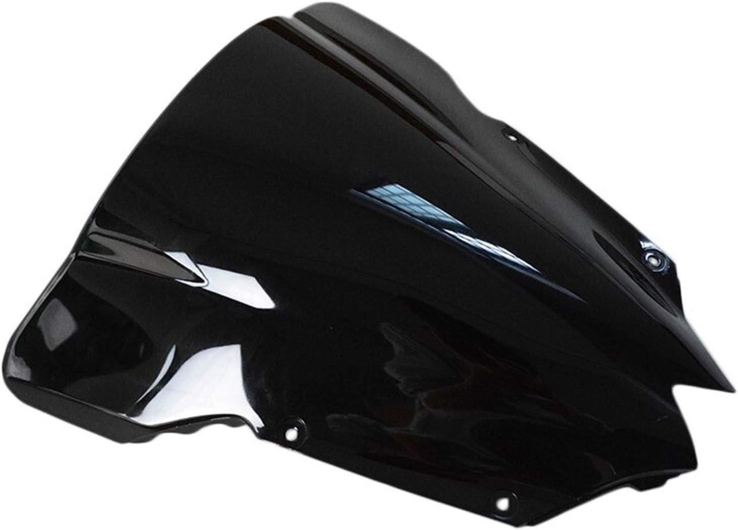 RKRLJX Ultra-Cheap Deals Max 88% OFF Motorcycle Black ABS WindScreen Double Windshield Bubble
