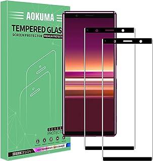 AOKUMA Sony Xperia 5 skärmskydd i härdat glas, premium 3D böjd kantskyddsfilm, kant till kant helskärmsskydd, fungerar med...