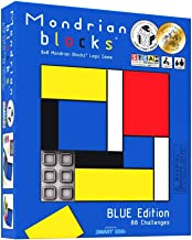 Mondrian Blocks - Blue Edition (Parents' Choice Award Winner) - Brain Teaser STEM Puzzle Game