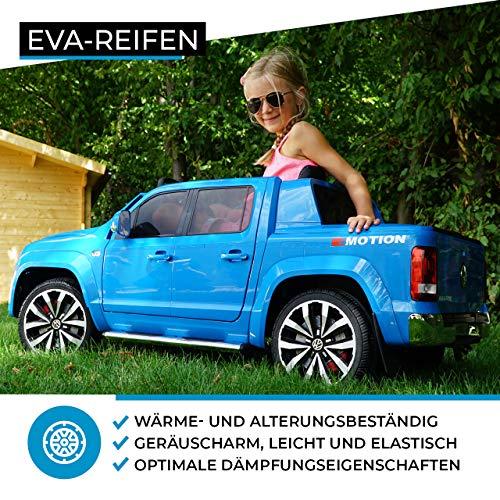 RC Auto kaufen Kinderauto Bild 5: Actionbikes Motors Kinder Elektroauto Volkswagen Amarok SUV Kinderauto Elektrofahrzeug Elektro VW 2 Personen Eva Reifen 2x35 Watt Motor (Schwarz)*
